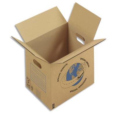 Caisses carton de déménagement - simple cannelure - 55 x 35 x 30 cm - lot de 20