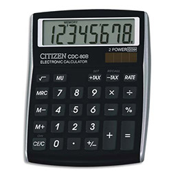 Calculatrice de bureau Citizen CDC80 noir (photo)