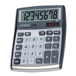 Calculatrice de bureau Citizen CDC80 gris (photo)