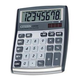 Calculatrice de bureau Citizen CDC80 gris (photo)