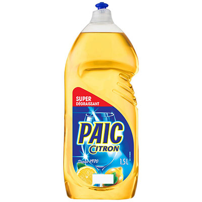 Liquide vaisselle main Paic - parfum citron - flacon de 1,5L (photo)