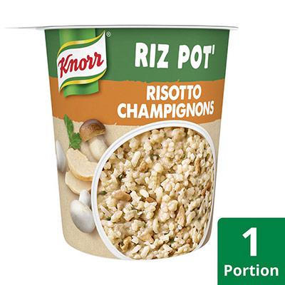 Pot de Risotto Champignons Knorr - plat préparé - 75g