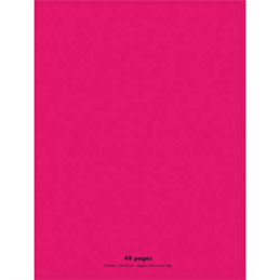 Cahier éco - piqué - couverture polypro - 48 pages - 24 x 32 cm - 90g - grands carreaux - rose (photo)