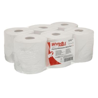 Papier d'essuyage à dévidage central L20 Wypall - double épaisseur - 400 feuilles - 38 x 19,5 cm - blanc