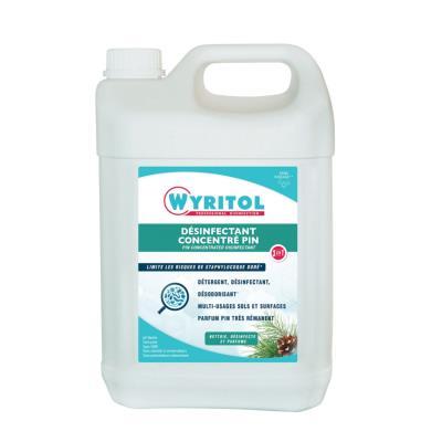 Nettoyant Wyritol multi-usages 3D Bactérisol plus - parfum pin - 5L