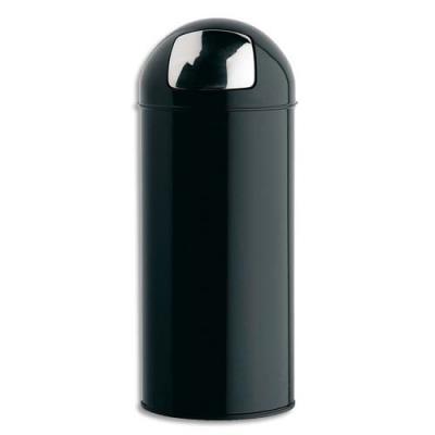 poubelle rossignol push avec couvercle trappe en m tal 45 l d 31 h 77 5 cm noir achat. Black Bedroom Furniture Sets. Home Design Ideas