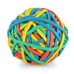 Balle 200 élastiques JPC - 4 couleurs assorties (photo)