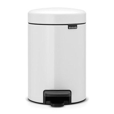 Poubelle à pédale Newicon - 3 litres - blanc