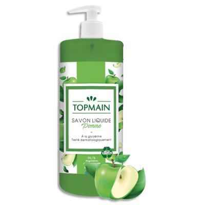 Savon liquide Topmain - parfum pomme - flacon de 500 ml (photo)