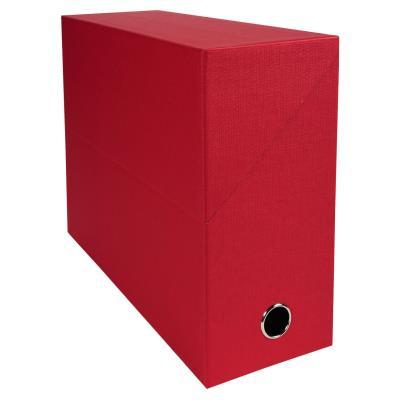 Boîte de transfert Exacompta - en carton rigide recouvert de papier toilé - dos 12 cm - rouge