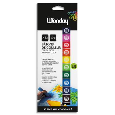 Boîte 12 bâtons de couleur MIN'O. (photo)