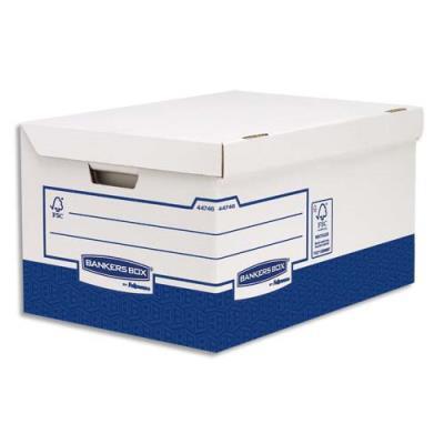 Conteneur Maxi Heavy Duty Bankers Box - montage manuel - blanc/bleu