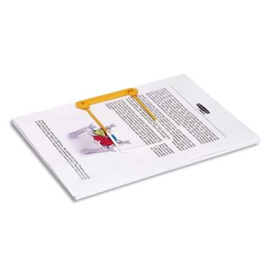 Clip tube jaune 3 pieces Bankers Box - pour archiver et consulter les documents - boîte de 100 (photo)