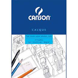 Bloc de papier calque Canson Satin - 25 feuilles - A4 - 90g (photo)
