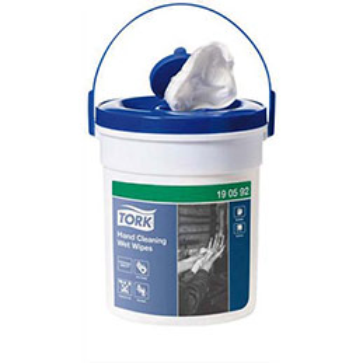 Lingettes Tork imprégnées d'une solution antiseptique et désinfectante - boîte de 58 (photo)