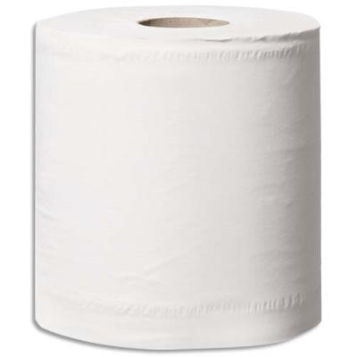 Papier d'essuyage blanc - 2 plis - 108 m - 450 formats prédécoupés - L24 x H19 cm - paquet de 6 bobines