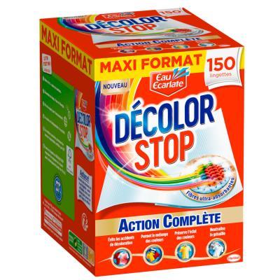 Lingettes Décolor Stop - action complète - boîte de 150 (photo)