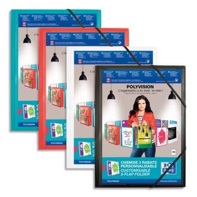 Chemise personnalisable Elba Polyvision 3 rabats + élastique - coloris assortis opaque