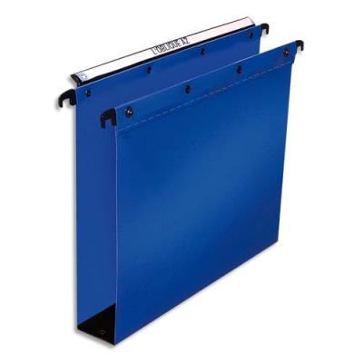Dossier suspendu en polypro L'Oblique Az Ultimate - fond 80 mm - pour tiroir - bleu - paquet de 10 (photo)