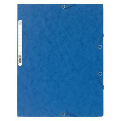Chemise Exacompta 3 rabats et élastique - carte lustrée 5/10e - format 24 x 32 cm - coloris bleu