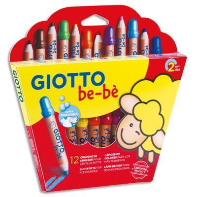 Etui de 12 crayons de couleur be-bè spécialement conçus pour les petits (photo)