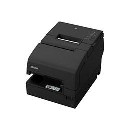 Epson TM H6000V - Imprimante de reçus - thermique en ligne/matricielle - 230 x 297 mm, Rouleau (7,95 cm) - 180 x 180 ppp - 9 pin - jusqu'à 350 mm/sec - USB, LAN, PoweredUSB, NFC, hôte USB 2.0 - noir
