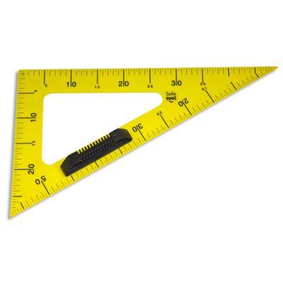 Equerre 60° en plastique incassable jaune graduée 50cm avec poignée noire amovible pour tableau - non aimantée (photo)