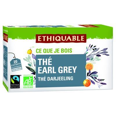 Sachets de thé noir earl grey Darjeeling - paquet 20 unités