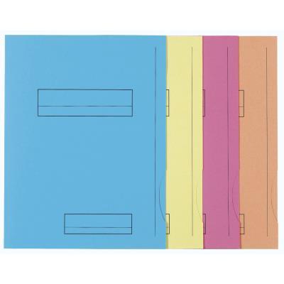 Chemise 2 rabats avec cadre d'indexage Exacompta Super 250 - carte 210 g - coloris assortis - paquet de 50
