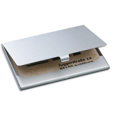 Etui à cartes Sigel - en aluminium, jusqu'à 15 cartes - L9,2 x H0,5 x P6,3 cm (photo)