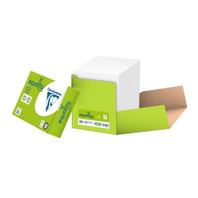 Papier A4 blanc 80g Equality recyclé - boîte de 2500 feuilles (photo)