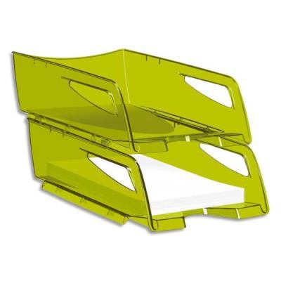 Corbeille à courrier maxi Cep Happy - 25 x 10,1 x 34 cm - vert bambou