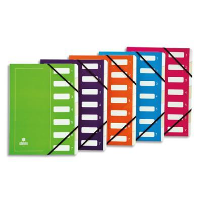 elastique Bleu EXTENDOS Trieur Mon Dossier en carte forte vernie 12 compartiments