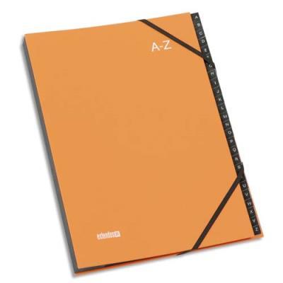 Trieur Alphabétique à élastique Extendos Mon Dossier - en balacron - 24 compartiments - orange (photo)
