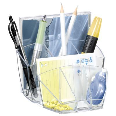 Pot à crayons Cep 8 compartiments - coloris Cristal