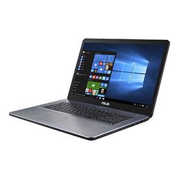 ASUS VivoBook 17 X705UA-BX554T - Pentium 4405U / 2.1 GHz - Win 10 Familiale 64 bits - 4 Go RAM - 256 Go SSD - 17.3