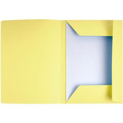 Chemise 3 rabats avec cadre d'indexage Exacompta Super 250 - carte 210 g - jaune - paquet de 50