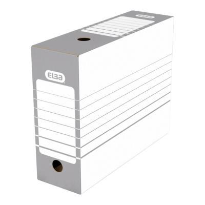 Boîte à archives en carton Elba - dos 10 cm - montage automatique - pour archivage à long terme