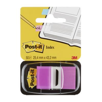 Carte de 50 Index Post-it repositionnables - 2.5 x 4,4 cm - violet