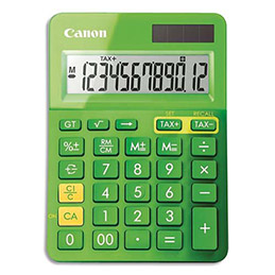 Calculatrice de bureau Canon LS-123K 12 chiffres - vert