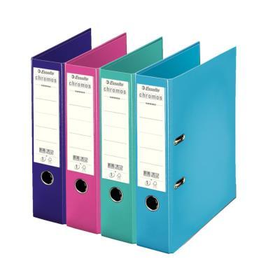 Classeur à levier Esselte Chromos Plus - polypropylène - dos 8 cm - A4 - coloris modes assortis