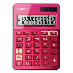 Calculatrice de bureau Canon LS-123K 12 chiffres - rose (photo)