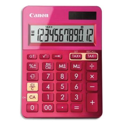 Calculatrice de bureau Canon LS-123K 12 chiffres - rose (photo)