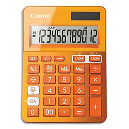 Calculatrice de bureau Canon LS-123K 12 chiffres - orange (photo)