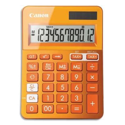 Calculatrice de bureau Canon LS-123K 12 chiffres - orange (photo)