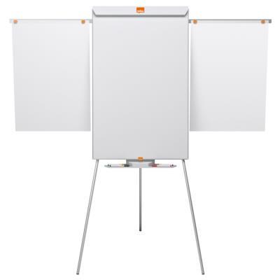 Chevalet Nobo Shark et tableau blanc mobile - surface magnétique en acier - cadre en aluminium - 1 000 x 685 mm (photo)