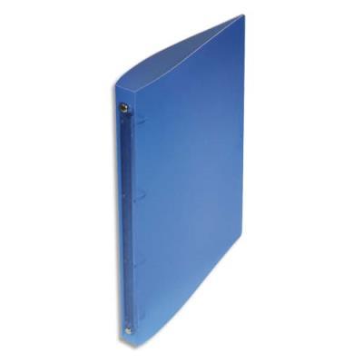 Classeur 4 anneaux 15 mm - A4 - polypropylène 4/10e - dos 2 cm - bleu translucide (photo)