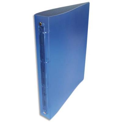 Classeur 4 anneaux 30 mm - A4 - polypropylène 4/10e - dos 4 cm - bleu translucide (photo)