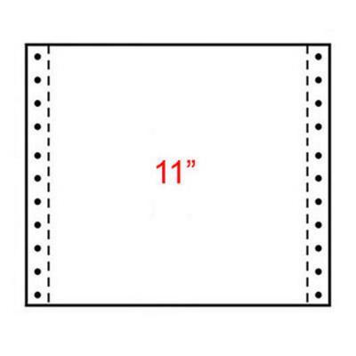 Papier listing Exacompta 380 x 280 mm  Zone vert 70g/m² - carton de 2000 feuilles