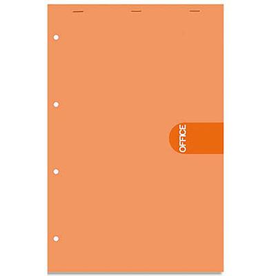 Bloc de bureau 5 Etoiles agrafé en-tête - 160 pages perforées 4 trous - 80g - seyès - 21x31,8 (A4+) - couverture orange (photo)